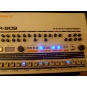 TR-909 Kit led bleu