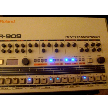 TR-909 TR-909 Kit led bleu