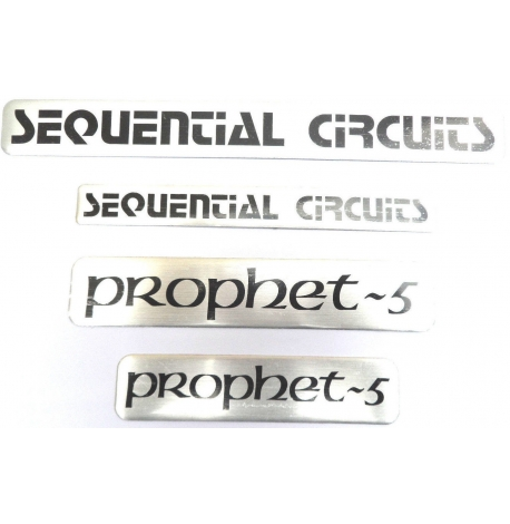 Sequential Circuits, Badge en aluminium Prophete-5