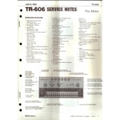 Roland, TR-606 Service Notes