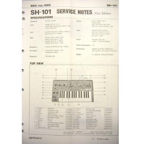 Roland, SH-101 Service Notes