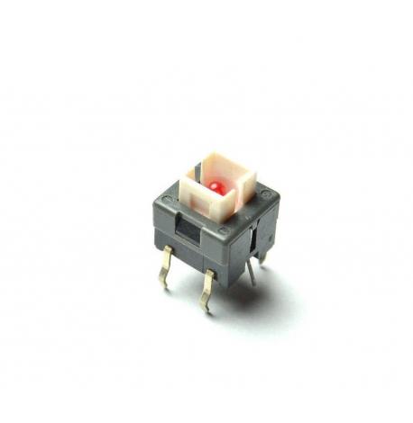 Roland Tact switch LED Rouge